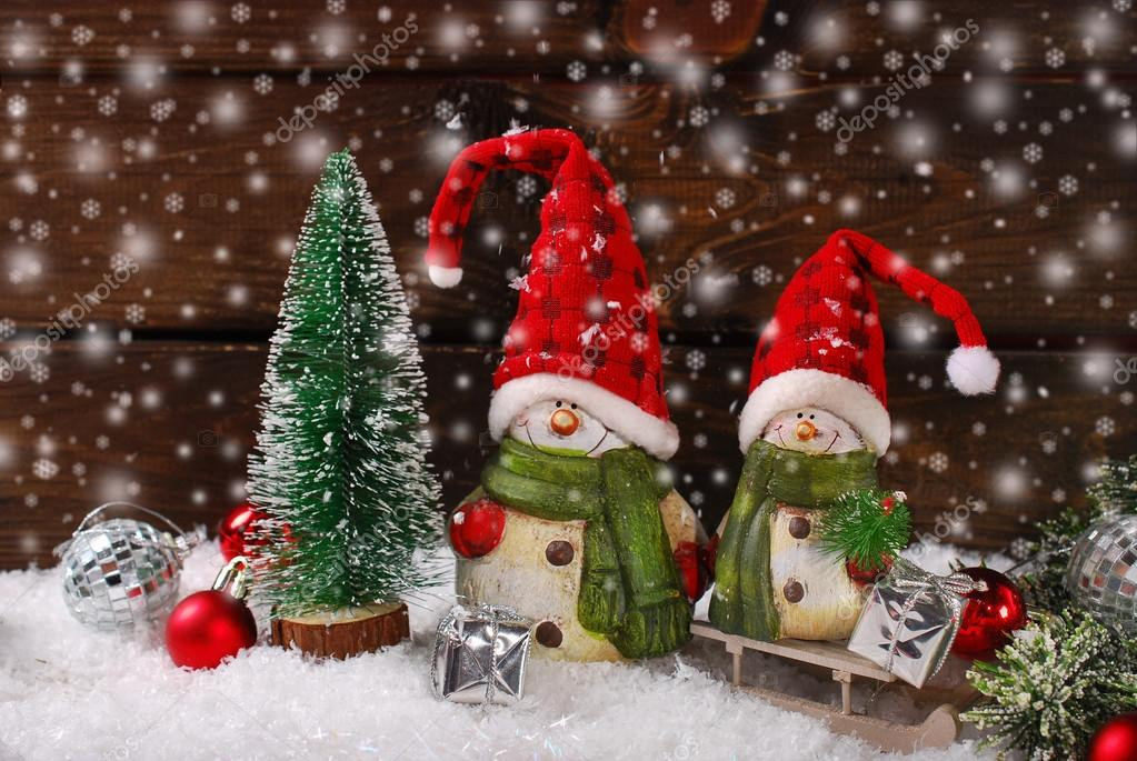 Santa Claus Figurines Christmas Decoration With Two