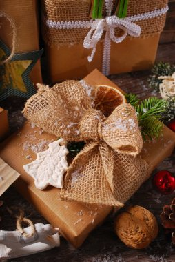 christmas presents wrapped in eco paper