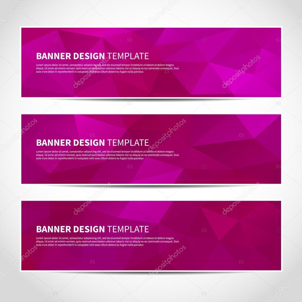 トレンディな紫バナー テンプレート ストックベクター juksik 60627779