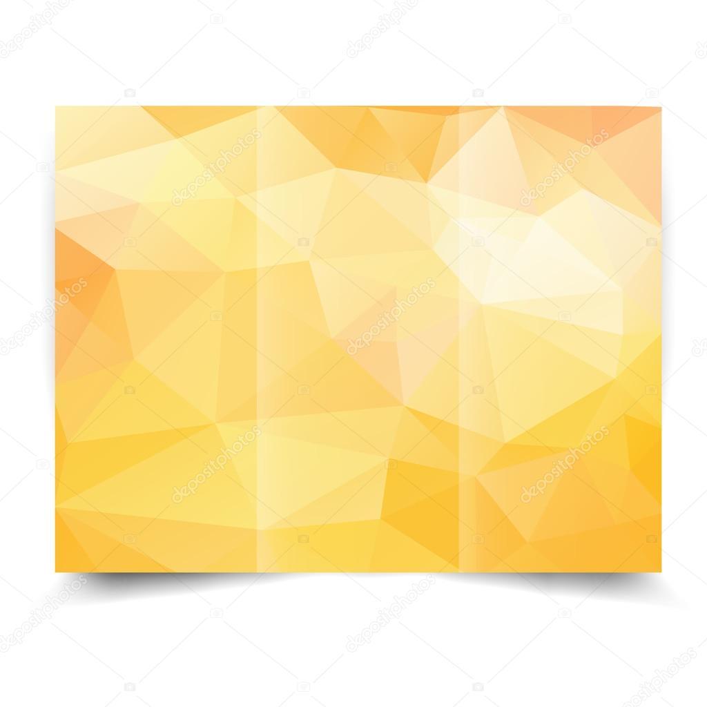 黄色の三つ折りパンフレットのデザイン テンプレート ストックベクター