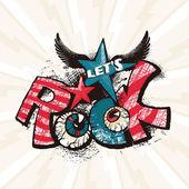 Grunge rock plakát
