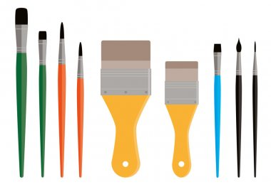 Variety of Paint Brushes