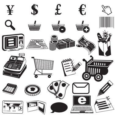 Shopping black icons