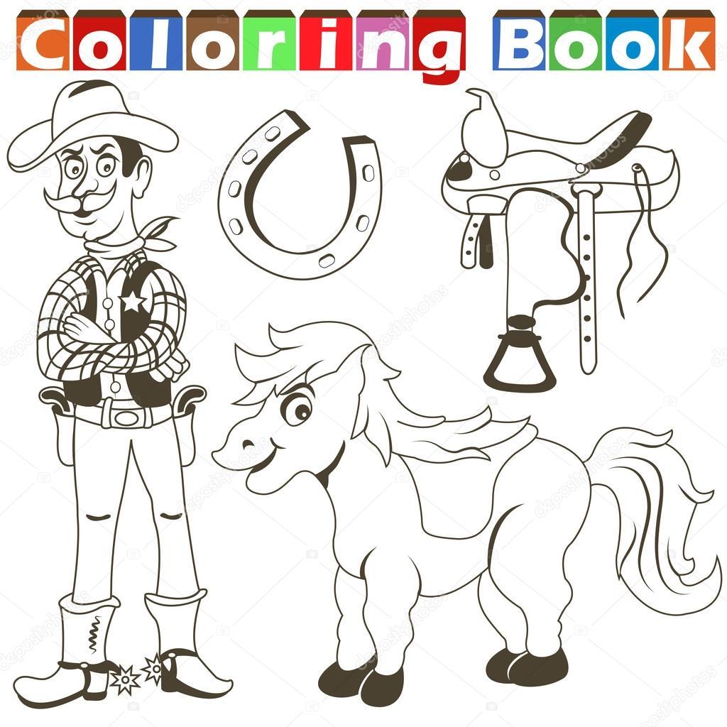 libro vaquero pony — Archivo Imágenes Vectoriales © Stiven #98289226