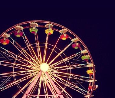 Ferris wheel in luna park