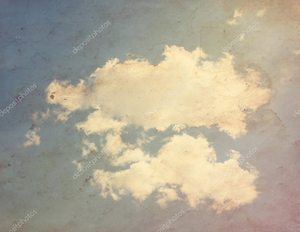 Clouds on paper overla