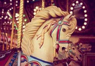 Merry-go-round wooden horse