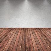 Fotografie Empty room with wall and wooden floor