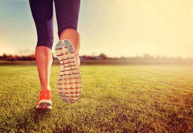 Athletic pair of legs running