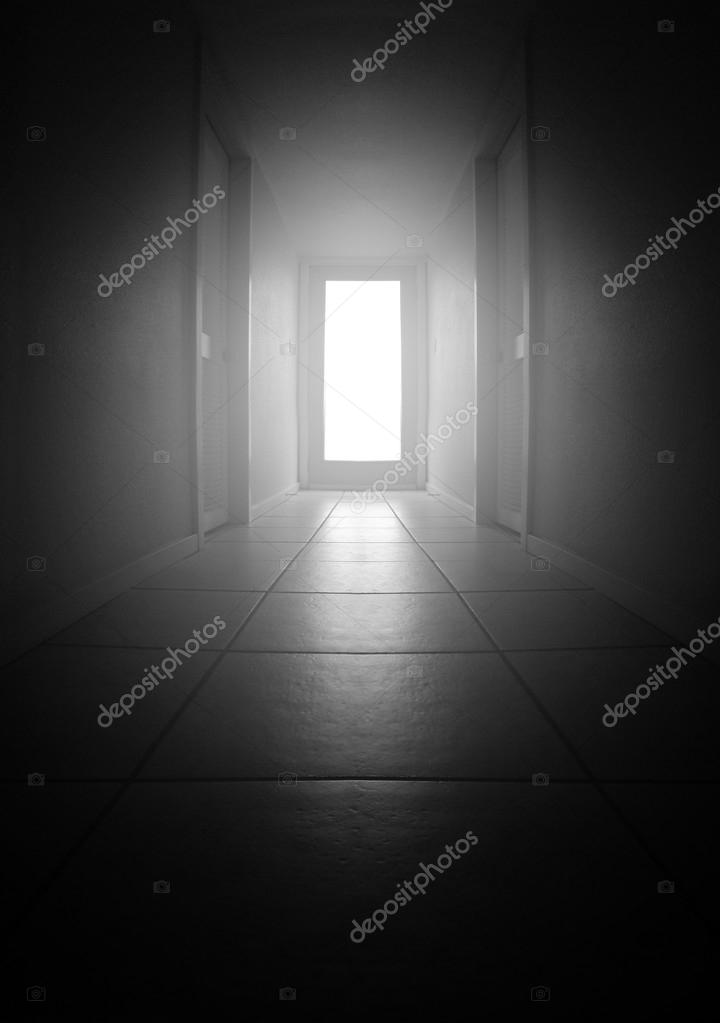A Long Dark Hallway With Light Coming From A Big Window U2014 Photo By  Graphicphoto