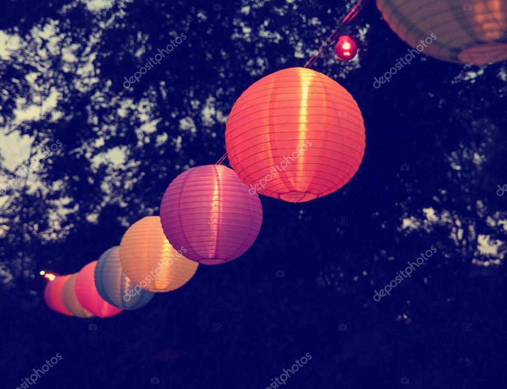 Chinese Paper Lanterns at party — Stock Photo © graphicphoto #67621769 for Paper Lantern Photography  104xkb