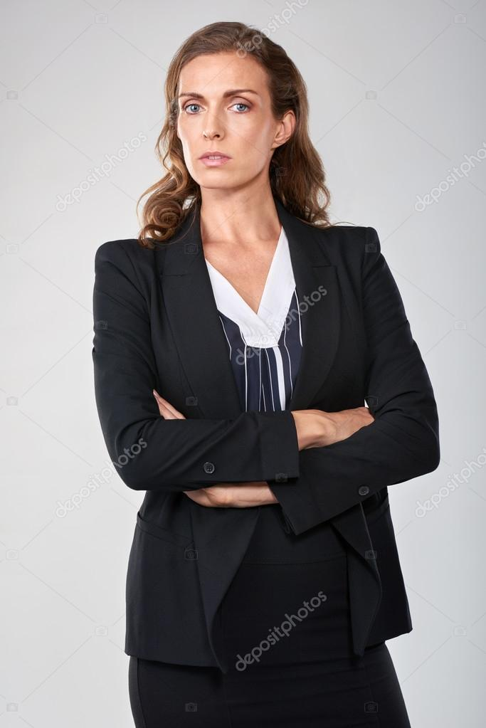 Stern portrait of mature business woman — Stock Photo