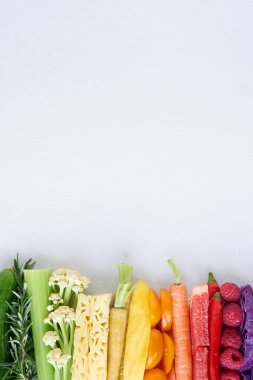 Rainbow fruits and vegetable collection