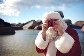 Fényképek Apa karácsonyi beach bevétel-kép