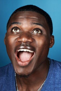 funny face african man