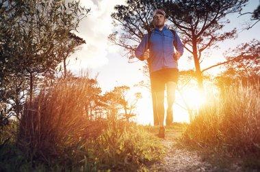 runner man exercising