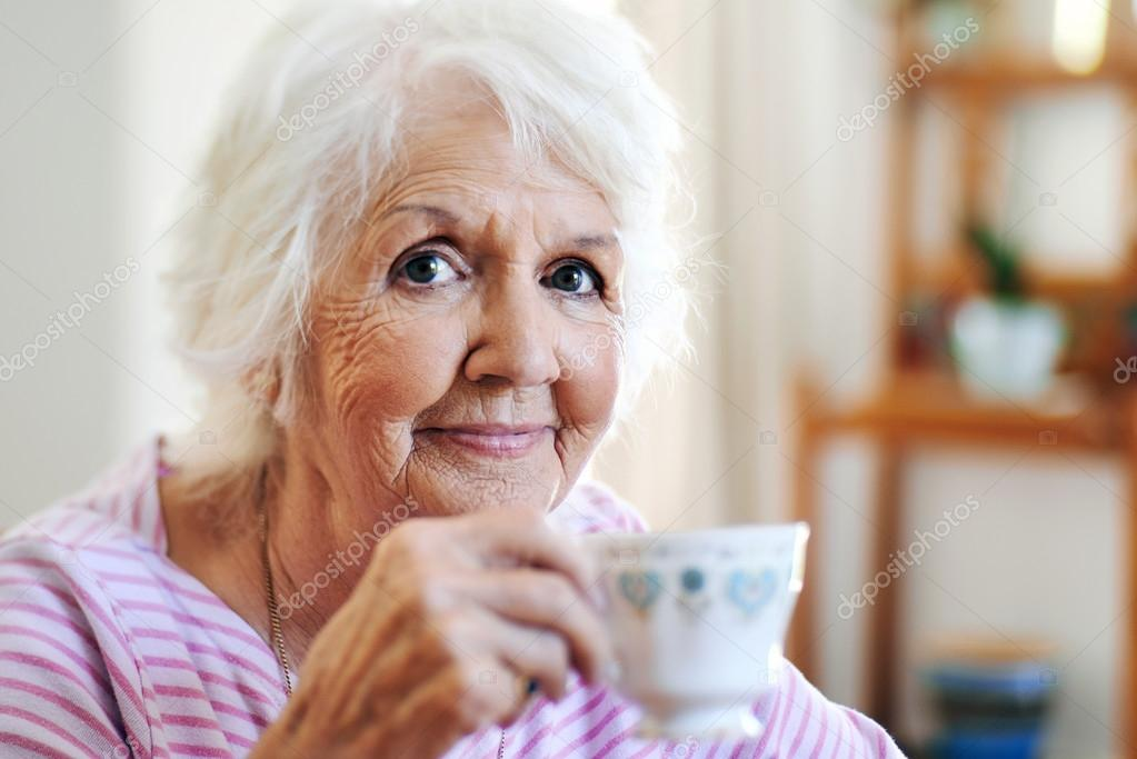 Drinking Coffee Elderly