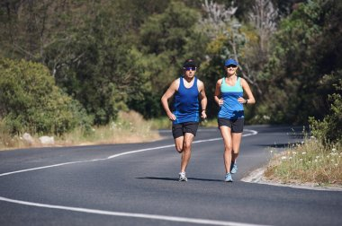 Couple training together for marathon