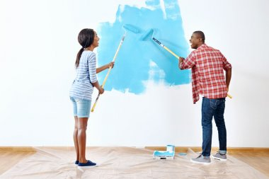 paint on apartment for african couple