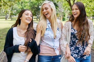 friends walking fun
