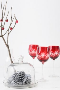 Seasonal modern christmas table decoration