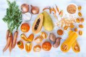 Narancs árnyalat tónusú gyűjtemény friss termékek