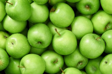 Apples background  close up