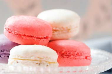 French macaroons on plate