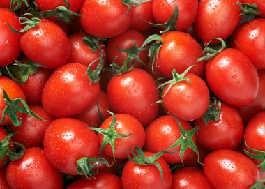 Tomatoes background close up