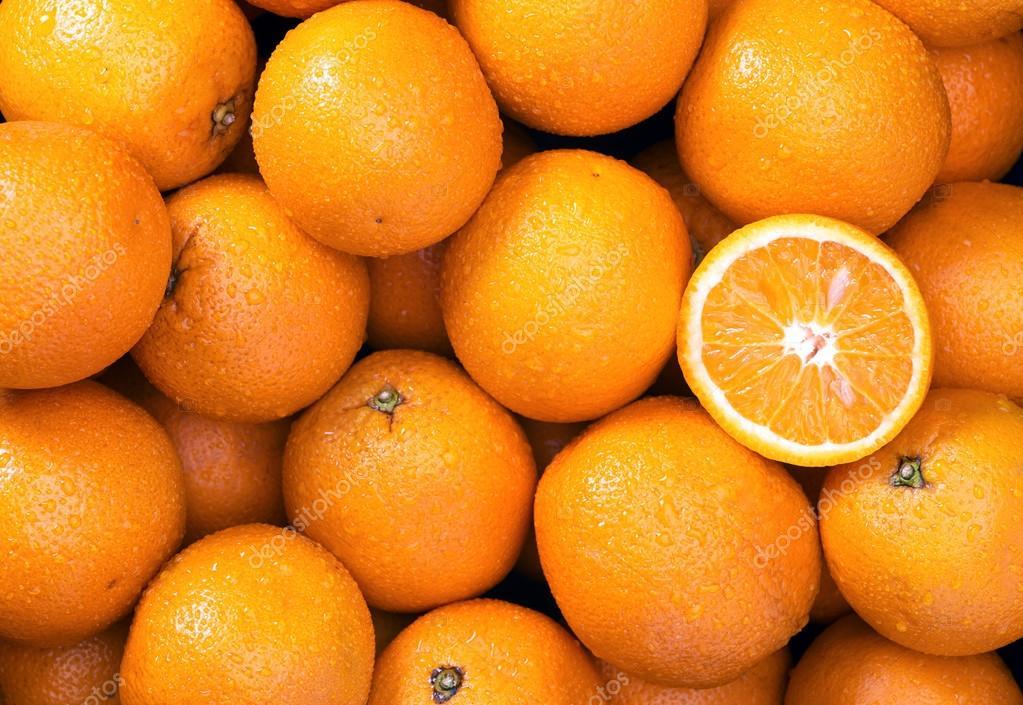 Orange background close up