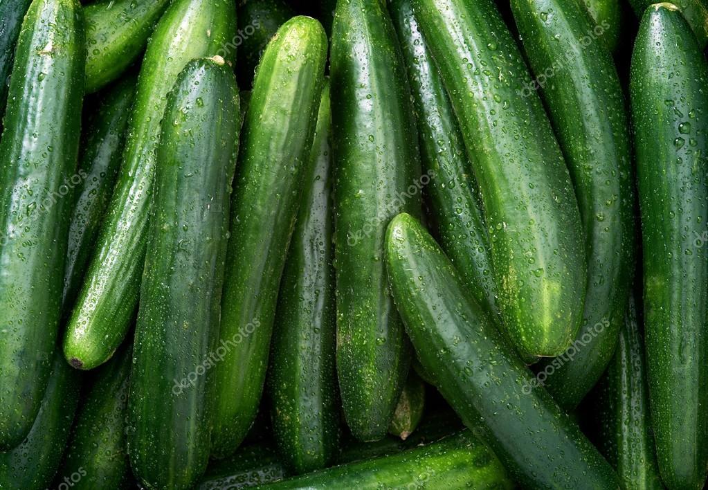 Cucumber background close up
