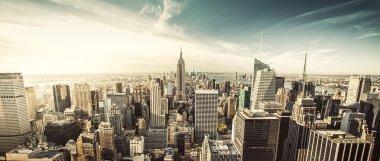 New York City under the fantastic sky