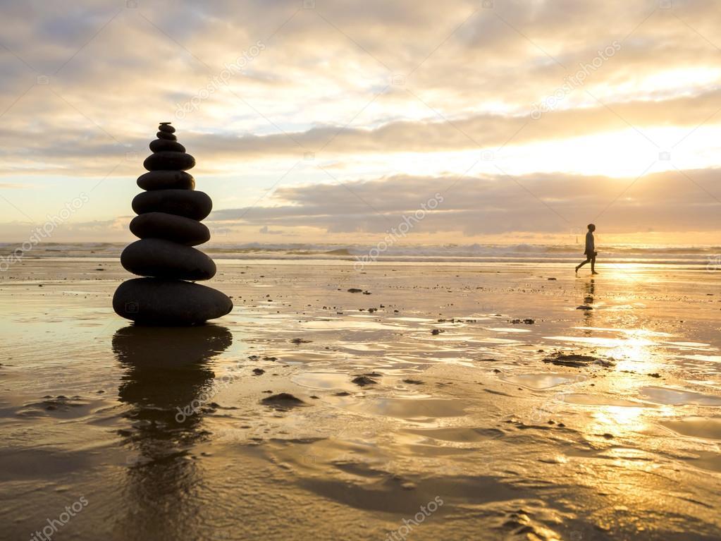 Sea stones stacked