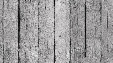 Seamless white painted old wooden boards texture