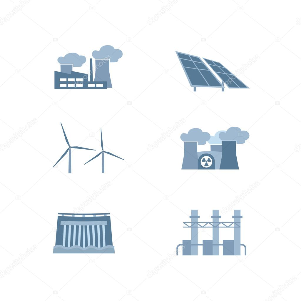 Different Kinds Of Power Plants Station Hydroelectric Diagram Solar Energy Plant