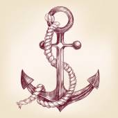 Fotografie anchor hand drawn vector llustration