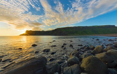 Sunset at Talsiker Bay, Scotland