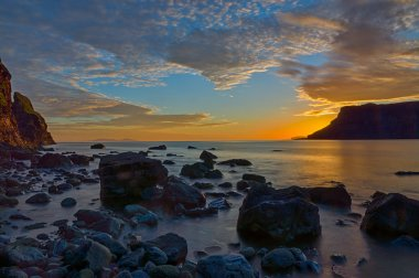 The Talisker bay after sunset