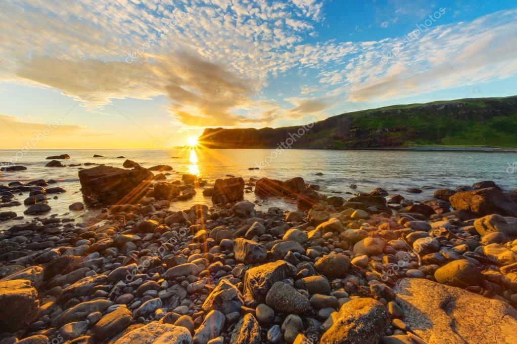 Beautiful sunset in Scotland