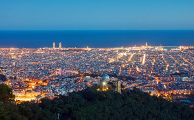 View over Barcelona at dawn