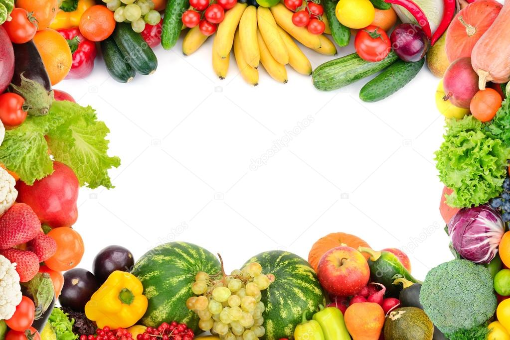 Cornice di frutta e verdura foto stock serg64 105301692 - Immagine di frutta e verdura ...