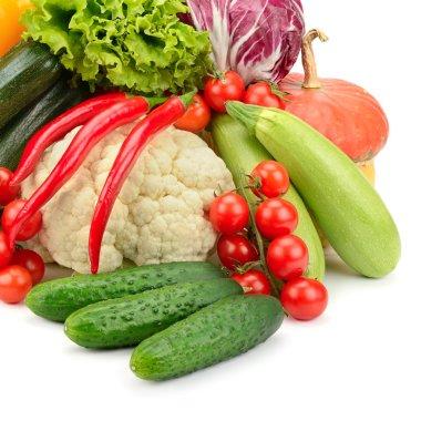 Fresh vegetables isolated on white background stock vector