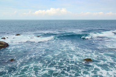 Beautiful ocean waves and blue sky