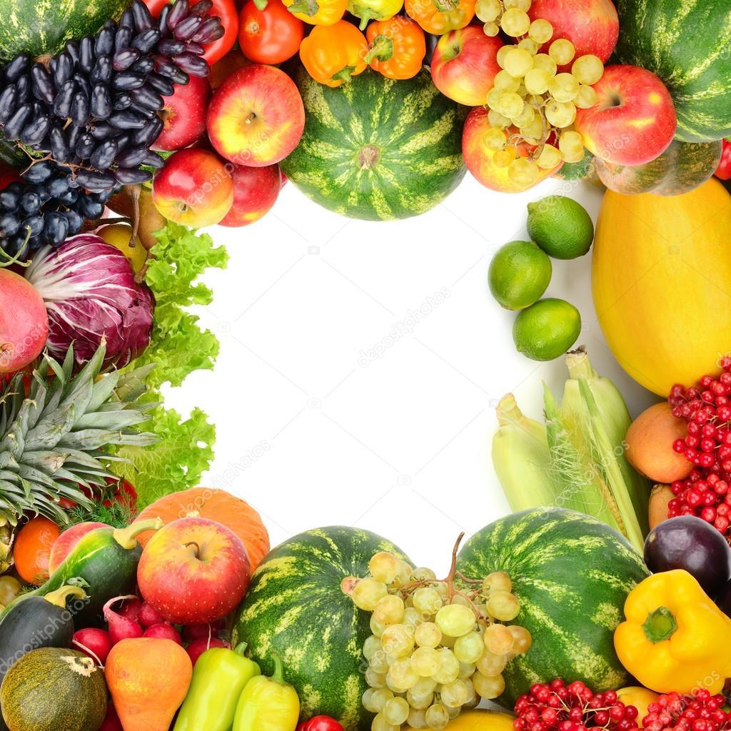 Cornice di frutta e verdura foto stock serg64 85149242 - Immagine di frutta e verdura ...