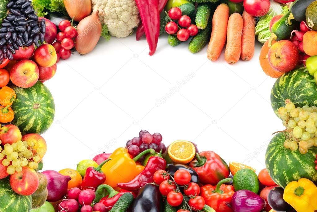 Cornice di frutta e verdura foto stock serg64 96731896 - Immagine di frutta e verdura ...