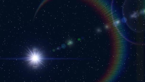 Prostoru pohybu bílý blesk na mnoha hvězdy pozadí