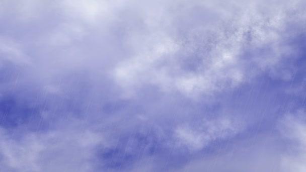 Pohyb deště modrá obloha mraky prostředích