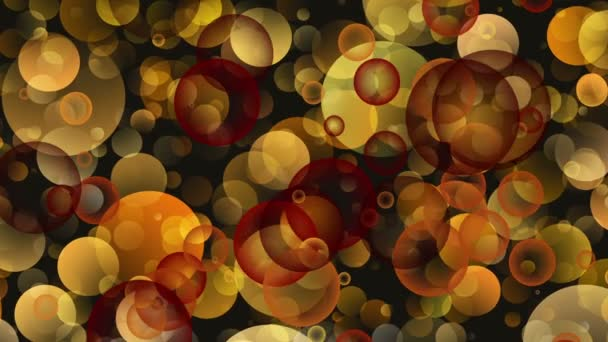 Warm Round Shapes in Chaotic Arrangement. Bokeh backgrounds motion