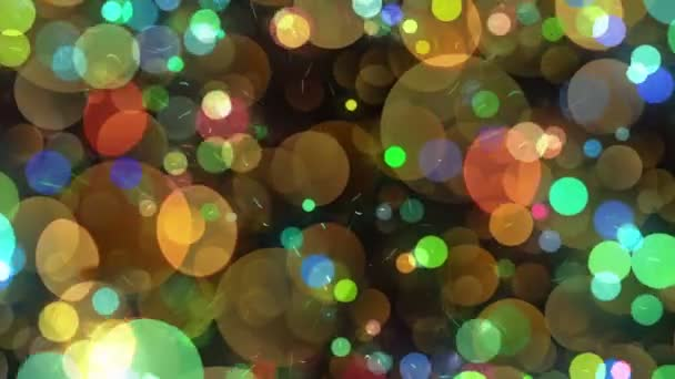 Many Round Shapes in Chaotic Arrangement. Bokeh backgrounds motion