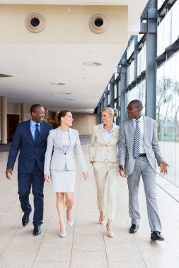 businesspeople in modern office